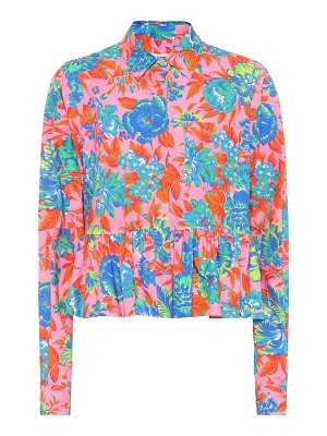MSGM Floral-printed cotton top