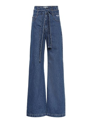 MSGM High-rise flared jeans