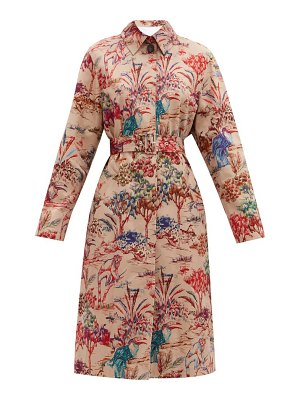 MSGM jungle-print single-breasted cotton trench coat