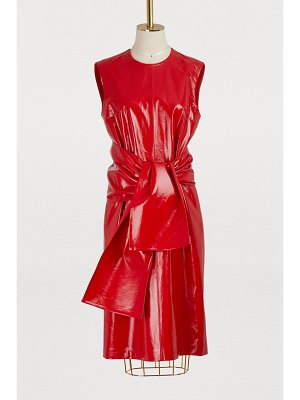 MSGM Leather effect dress