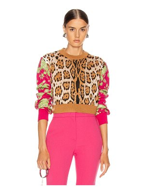 MSGM leopard floral sweater