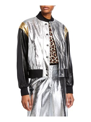 MSGM Metallic Bomber Jacket