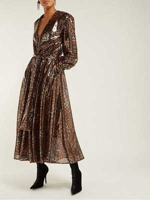 MSGM Msgm - Belted Leopard Sequinned Dress