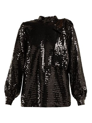 MSGM high neck sequin top