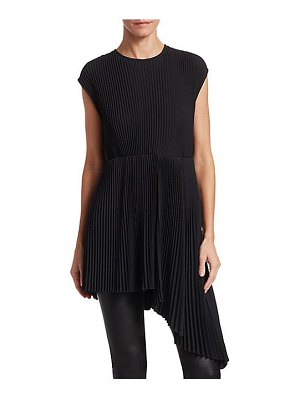 MSGM pleated asymmetric crepe a-line blouse