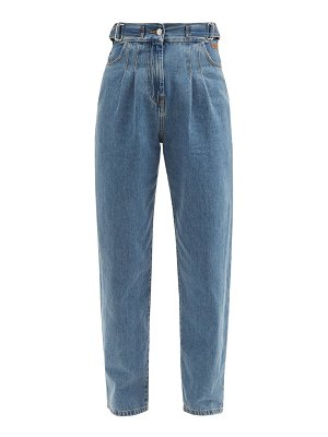 MSGM pleated tapered-leg denim trousers