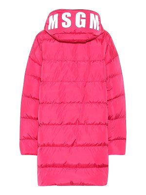 MSGM quilted down coat