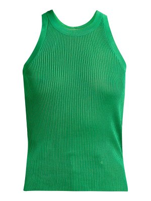 MSGM ribbed knit racer back top