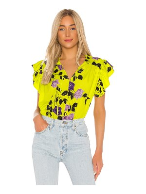 MSGM roses rampage blouse