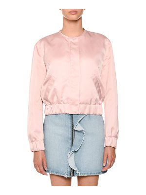 MSGM Satin Bomber Jacket