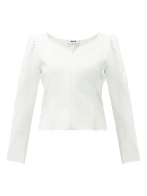 MSGM sweetheart-neck cady blouse