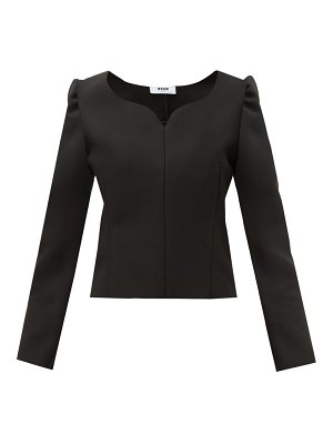 MSGM sweetheart neck cady blouse