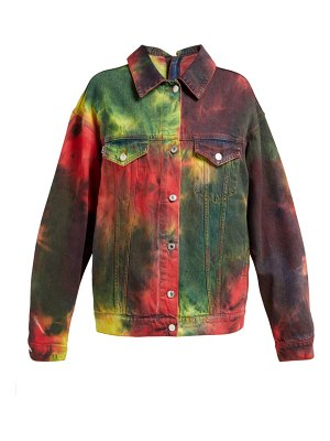 MSGM tie dye denim jacket