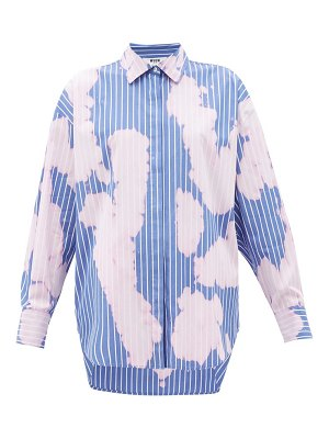 MSGM tie-dye pinstripe cotton shirt