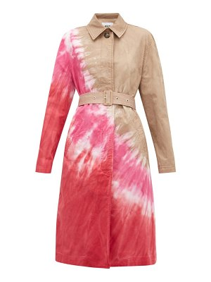 MSGM tie-dye single-breasted cotton-blend trench coat