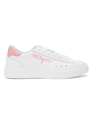 MSGM white and  logo low sneakers