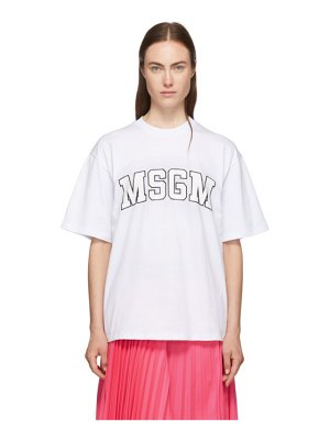 MSGM white college logo t-shirt