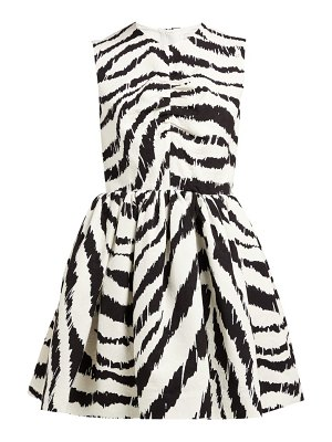 MSGM zebra print cloqué mini dress