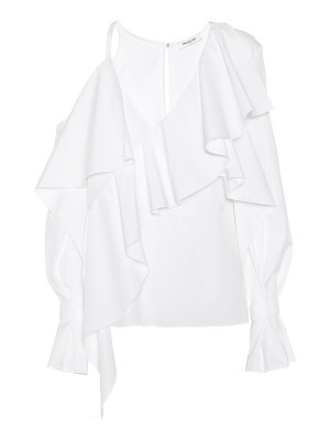 Mugler asymmetric cotton blouse