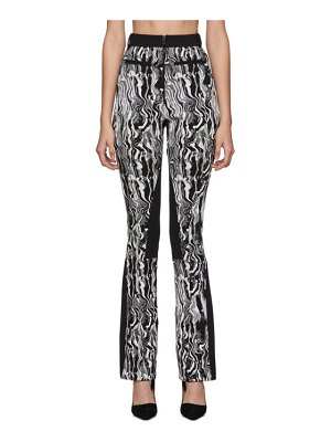 Mugler black and white tapestry trousers