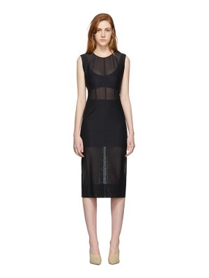 Mugler black mesh power dress