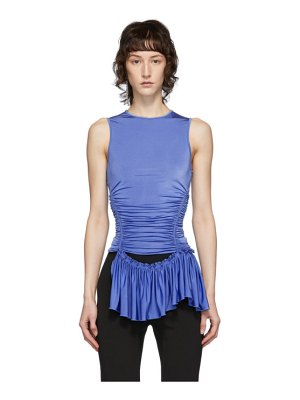 Mugler blue ruched tank top