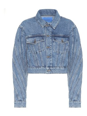 Mugler cropped denim jacket