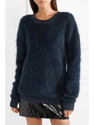 Mugler cutout brushed knitted sweater
