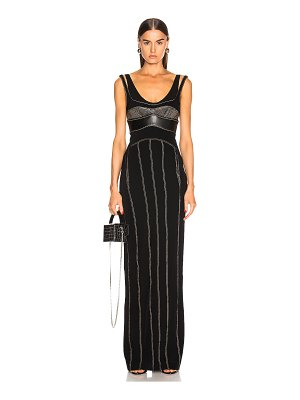 Mugler detail dress