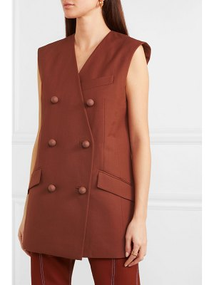 Mugler double-breasted wool vest