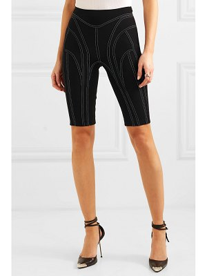 Mugler embroidered stretch-jersey shorts