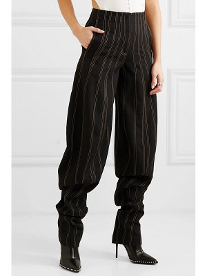 Mugler embroidered wool tapered pants