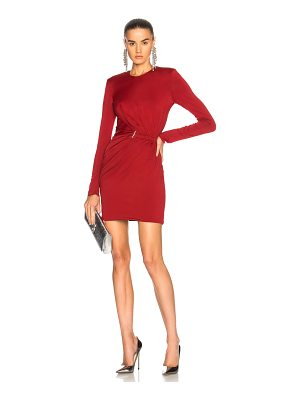 Mugler Fluid Jersey Long Sleeve Mini Dress