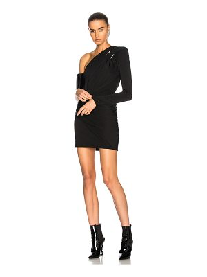 Mugler Fluid Jersey One Shoulder Mini Dress