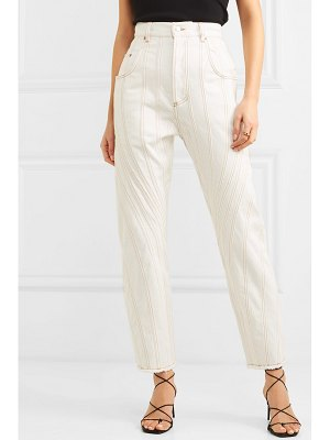 Mugler high-rise straight-leg jeans