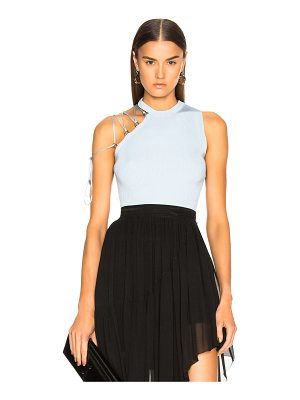Mugler Lace Up Detail Tank