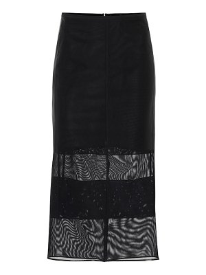 Mugler Mesh pencil skirt