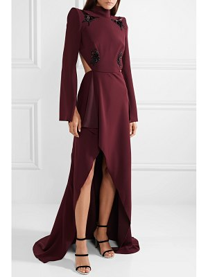 Mugler open-back appliquéd crepe gown