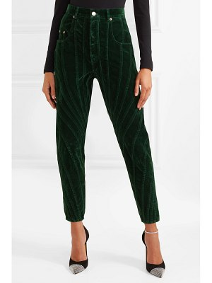 Mugler paneled velvet tapered pants