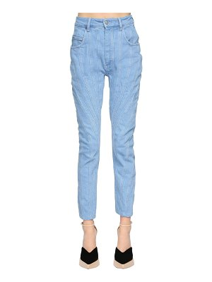 Mugler Patchwork cotton denim jeans