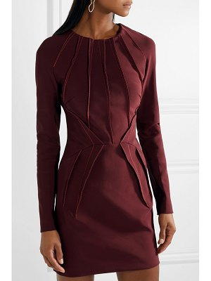 Mugler pintucked stretch-cady mini dress
