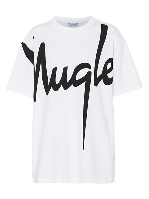 Mugler Printed cotton T-shirt