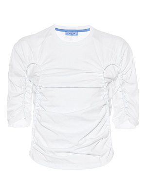 Mugler ruched cotton top