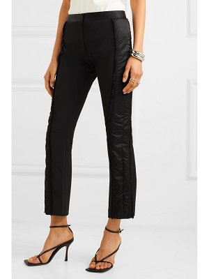 Mugler satin-trimmed twill flared pants