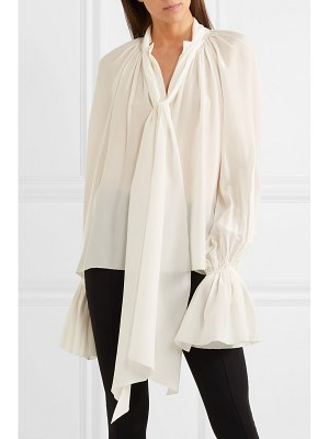 Mugler silk-chiffon blouse - off-white