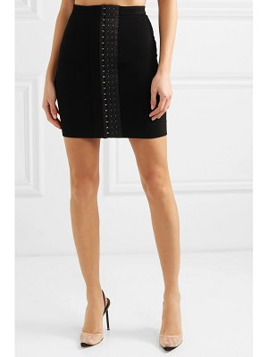Mugler stretch-crepe mini skirt