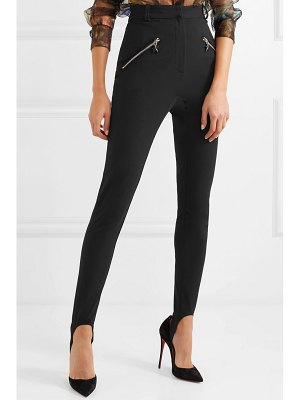 Mugler stretch-crepe skinny stirrup pants