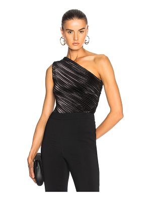 Mugler Stretch Lame One Shoulder Bodysuit