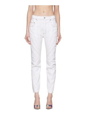 Mugler white twist jeans