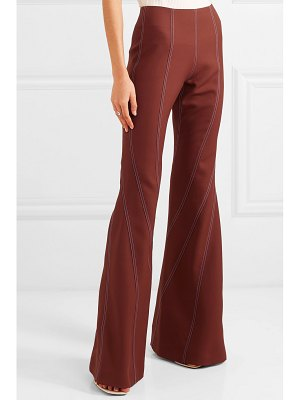 Mugler wool-twill flared pants